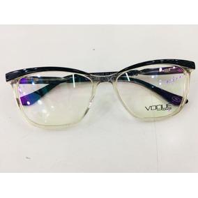 Armação Para Grau Vogue Óculos Transparente Com Preto -vg107 · R  135 fc63c42843