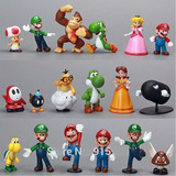 18 Figuras Mario Envío Gratis Bros Set Luigi Mario Yoshi Dhl