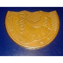 Moeda Mordida 25 Centavos Dourada