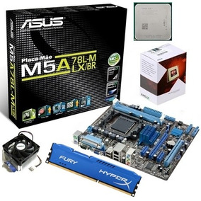 Kit Asus M5a78l-m Lx/br + Fx 6300 4.1ghz + 4gb Hyperx