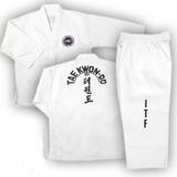 Traje Taekwondo Itf Dobok Talles 3a4 Acrocel Shiai Uniformes