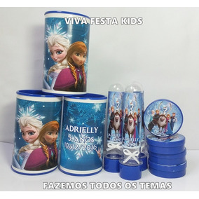 Kit Frozen Cofrinho, Latinha E Tubete Personalizado C/90 Un