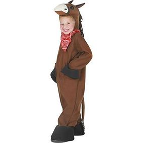 Traje De Niño De Brown Caballo De Halloween (pequeño 4-6)