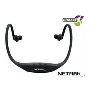 Auricular Netmak In Ear Bluetooth Nm-b32 Nuca Fitness Manos