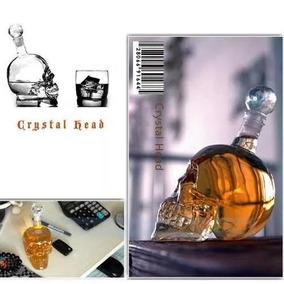 Garrafa Em Forma De Caveira Crystal Head 550ml Frete Gratis