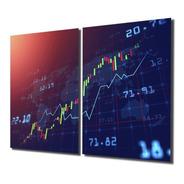 Quadro Decoração Investidor Trader Candles Forex Bmf Mdf 6mm