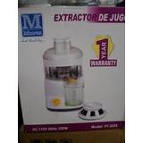 Extractor De Jugos Frutas Y Vegetales Murex 350 Watt 2 Veloc