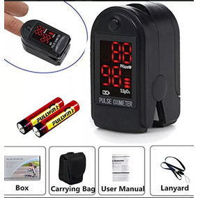 Contec Sensor De Oxigeno Con Oximetro Negro