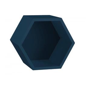 Nicho Hexagonal Mdf Favo Maxima Azul Noite Hdwt por Madeira Madeira aab701e613