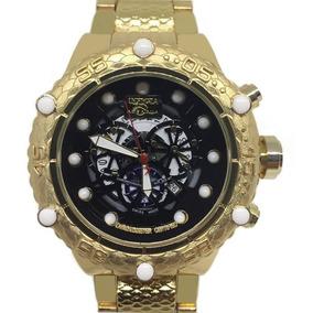 Relógio Masculino Invicta Dourado Fundo Preto