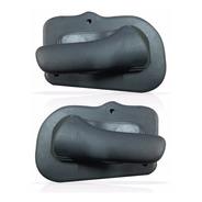 Par Puxador Interno Porta Dianteira Corsa 95 96 97 Cinza