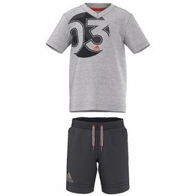 Conjunto Playera Con Shorts Summer Set Niños adidas Ak1930