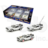 Trilogy Pack - Delorean - Back To The Future - Welly - 1:24