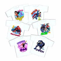 10 Playeras Superheroes Personalizadas Fiesta Envío Gratis