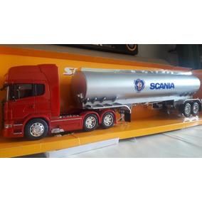 Miniatura Conjunto Scania R730 Trucado+carreta Tanque 1:32