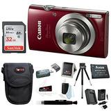 Cámara Digital Canon Powershot Elph 180 20 Mp ( Rojo ) + Ta