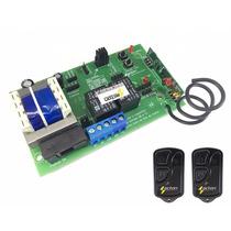 Central Placa Portão Eletrônico Universal Smart +2 Controles