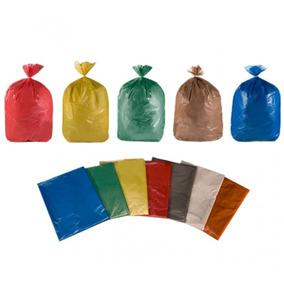 Saco De Lixo Coloridos 20 Litros 6 Micras Com 400 Un
