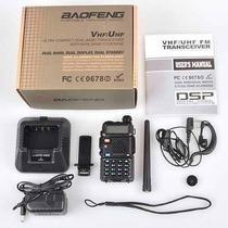 Rádio Ht Baofeng Dual Band Uv-5r 136-174/400-520 Mhz + Fone