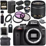 Nikon D3400 Cámara Dslr Con Af-p Mm Vr Lente (negro) En-el