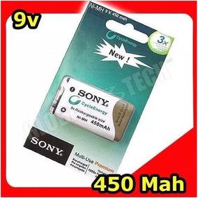 Bateria Recarregável 9v Sony 450mah Pilha Lacrado No Blister