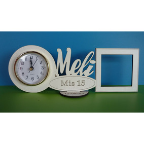 50 Souvenir Reloj C/ Nombre Y Portaretrato 1º Año 15 Años