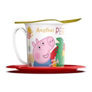 Set Taza Con Plato Y Cuchara De Regalo Peppa Pig