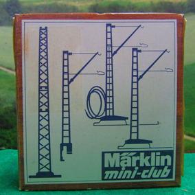 Escala Z Marklin Mini Club Postes Para Catenária Jorgetrens