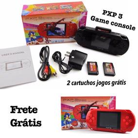 Jogo Vídeo Game Boy Console Pxp 3 Grátis 2 Cartuchos C Jogo