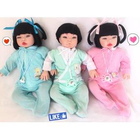 3 Bebê Realista Real Reborn Acessórios Exclusivos + Brinde