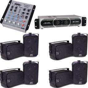 Som Ambiente Mesa Som Bluetooth Potência Pro2200 8 Caixas Sp