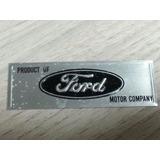 Logo Ford Soleira Maverick Galaxie Corcel Placa Emblema Lata