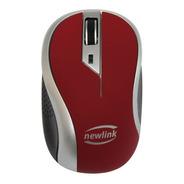 Mouse Wireless 1600 Dpi Newlink Wave Mo112 Vermelho