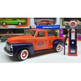 1:18 Gmc Pick Up 150 1950 C Bomba Gasolina Gulf Greenlight