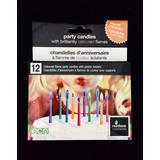 12 Velas Con Llama De Color!! Velitas Cumpleaños Fiesta