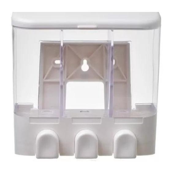 Dispenser Triple Jabon Liquido Shampoo Crema 400ml C/u Ba?o