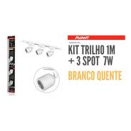Kit Trilho Eletrificado 1 M+3 Spot Led Branco Avant 7w 3000k