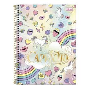 Caderno Cd Univers. 20 Mat. 400fls Capricho Rain Tilibra