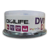 Torta 25 Uni. Dvd+r Doble Capa 8.5gb 8x Imprimible Full Face