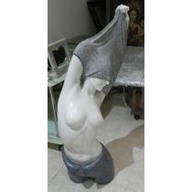 Escultura De Dama Al Desnudo Marmol Original Traida Italia