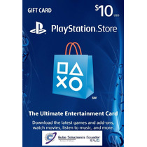 Tarjeta Play Station Store Psn - $10 - Gift Card - Prepago