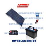 Kit 2 Solar, Celda Coleman 100w, Inversor, Cargador