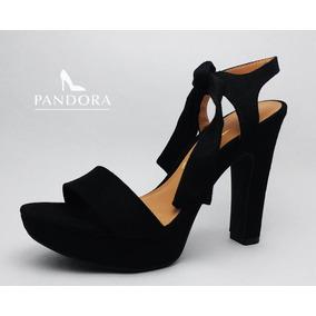 Sandalias Vizzano Con Lazo Negro Y Rosa