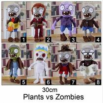 1 Boneco Pelúcia Plants Vs Zombies - Planta Vs Zumbi 30cm