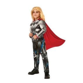 Disfraz 8 A 10 Años Avengers Thor Niño Con Musculos