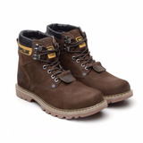 Bota Coturno Adventure Botina Caterpillar Couro Cat Infantil