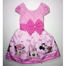 Lote Com 10 Vestidos Temáticos Infantis 1e 2anos