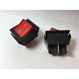 Switch Interruptor Balancín 4 Patas 2p 2t 20a 125v Rojo