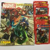 .- Pack Album 40 Sobres + 1 Álbum Marvel Super Heroes Panini