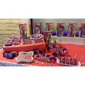 Candy Bar Hombre Araña 30 Chicos - 5 Golosinas Personaliz